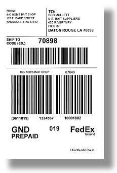 FedEx Ground Shipping Label